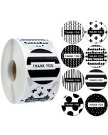 Black Symbol Thank You Stickers | TY042 | Thank Your labels