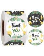 Green leaves Thank You Stickers | TY043 | Thank Your labels