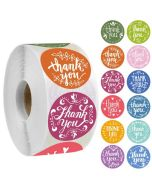12 Beautiful Designs Thank You Stickers | TY046 | Thank Your labels