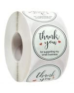 For support my small business Thank You Stickers | TY049 | Thank Your labels