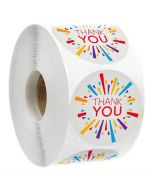 Fireworks Thank You Stickers | TY055 | Thank Your labels