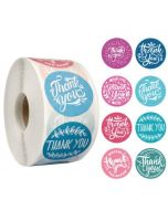Eight Color Flowers Thank You Stickers | TY059 | Thank Your labels