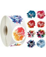 Eight Spray Colors Thank You Stickers | TY062 | Thank Your labels