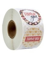 8 Different Designs Thank You Stickers | TY067 | Thank Your labels