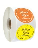Single Color Thank You Sticker | TY017 | Thank You Round Decals