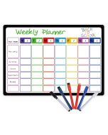 Weekly Planning Whiteboard | Magnetic Fridge Calendar | Magnetic Calendars