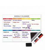 Magnetic School Calendar | Calendar Date Magnets | Weekly Fridge Calendar