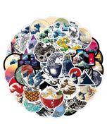 Aesthetic Vinyl Stickers | Aesthetic Waves Sticker | Aesthetic Decals