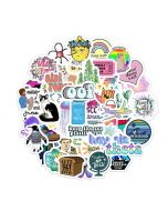 Aesthetic Vinyl Stickers |  Coral Aesthetic Stickers | Aesthetic Vintage Stickers