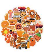 Aesthetic Orange Stickers | Sticker Vintage Aesthetic | Cute Aesthetic Stickers Printable