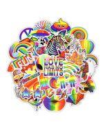 Aesthetic Rainbow Sticker | Retro Aesthetic Stickers | Aesthetic Stickers for Laptop