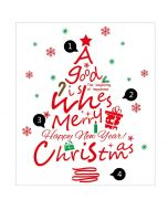 Christmas Tree Wall Decal | Christmas Tree Wall Sticker | Christmas Wall Stickers