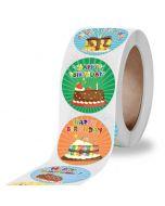 Happy Birthday Cake Stickers   Cute Birthday Sticers   Happy Birthday Sticker