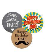 Happy Birthday Dad Stickers | Best Birthday Stickers | Happy Birthday Sticker