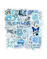 Cute Aesthetic Stickers | Blue Aeasthetic Stickers | Printable Sitckers Aesthetic