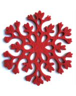 Red Felt Snowflakes | Decorative Stickers