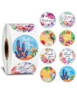 Floral And Animal Thank You Stickers | TY009 | Thank You Gift Labels