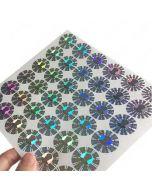 Silver Hologram Sticker | Holographic Vinyl Sticker