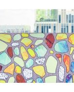 Office Window Decals | Clear Window Decals | Colored Terrazzo