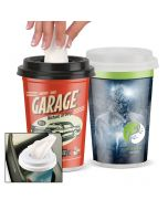 Reasonable Priced Full Color Facial Tissues in Custom Plastic To-Go Cup Print Supplier
