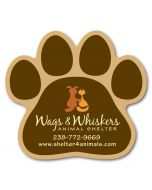 Buy in Bulk Full Color Specialty Shaped Logo Magnet - Paw Print - 20 mil For Sale