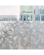 Office Window Decals | Clear Window Decals | Polygonal-Rhombus