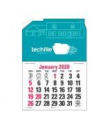 Buy Press n' Stick Custom Calendar - House Outline Top Printing Company