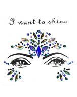 Bindi Face Jewel Crystal Sticker | 3D Face sticker jewelry | 3D Crystal Tattoo Eye Gems Stickers | Festival Party Creative Makeup