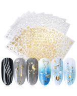 Star Nail Stickers | Gold Nail Stickers