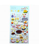 Puffy Food Stickers | Cute Puffy Stickers