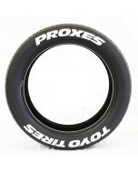 Custom Tire Stickers | Toyo Proxes Permanent White Wheel Letter Decal | 4Decals In One Unit