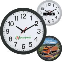 "Budget Full Color Slim Custom Wall Clocks - 12"" Dependable Printing Manufacturer"
