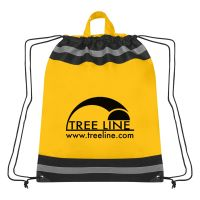 "Non-Woven Reflective Sports Customized Backpacks - 17""w x 20""h"